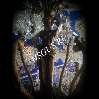 Бронза  9 ламп Новая с Фигурой Богиня
