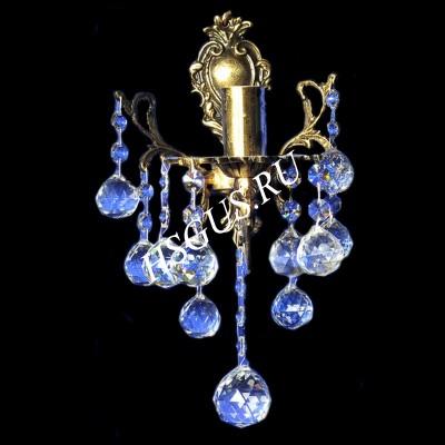 Хрустальная Бра Бронза 1 лампа