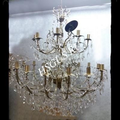 Латунь Свеча Большая 18 ламп Журавлик
