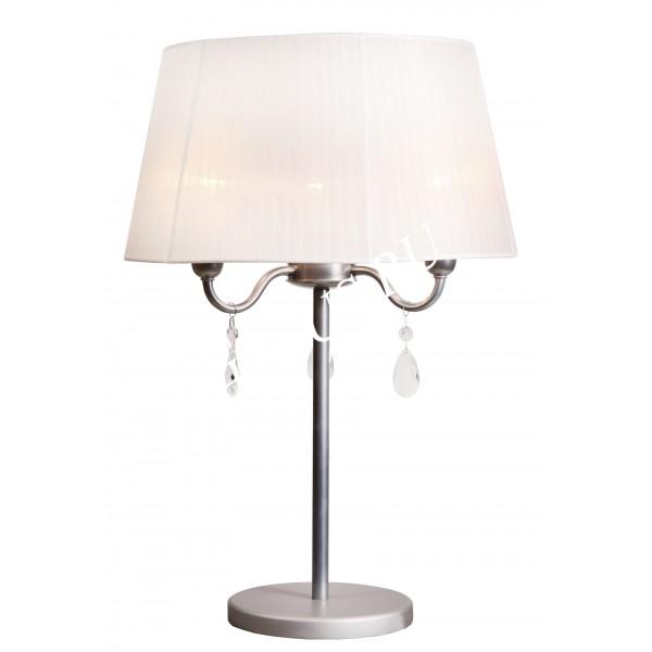 """Настольная лампа с абажуром """"Арнеджио белый,3 лампы"""