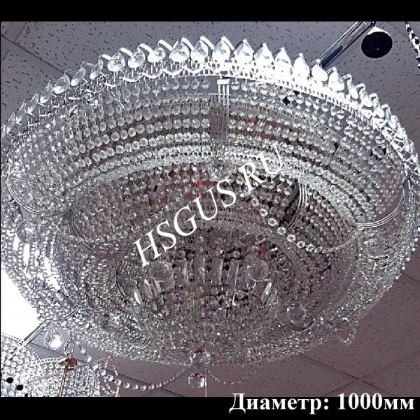 """Хрустальная люстра """"Кольцо Купол -2"""" фото в интерьере"""