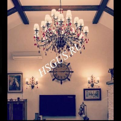 Люстра Ригонда 25 ламп в интерьере