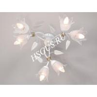 Азалия 6 ламп Белая
