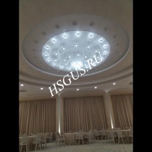 Большая хрустальная круглая люстра  4500мм - под заказ