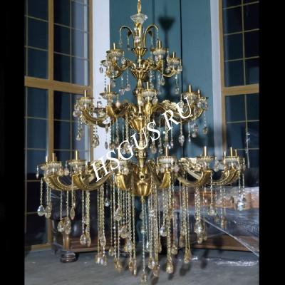 Бронза 30 ламп Большая 1450мм в интерьере