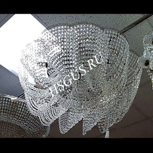 "Хрустальная потолочная люстра ""Лотос Елена"" с зеркалом"